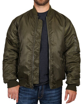 American Worker® Men's Zippered Jacket, Olive, hi-res