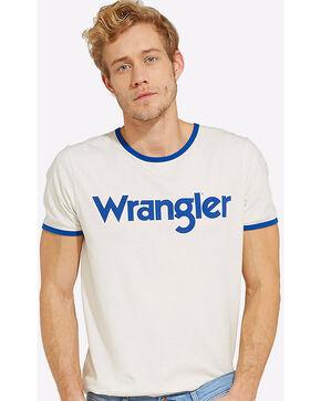 Wrangler Men's 70th Anniversary Kabel Logo Ringer Tee , White, hi-res
