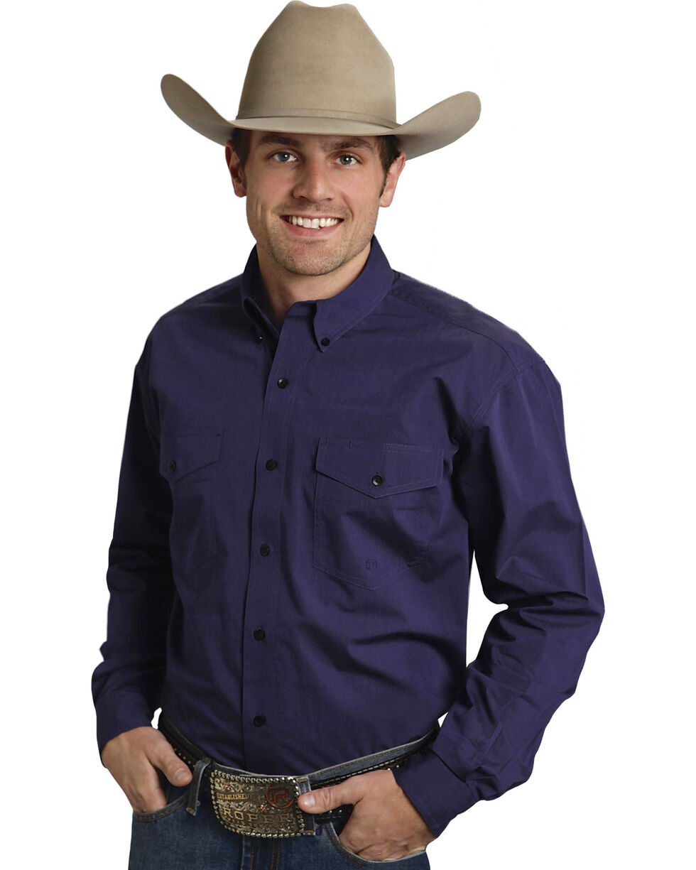 Roper Amarillo Collection Purple Western Shirt, , hi-res