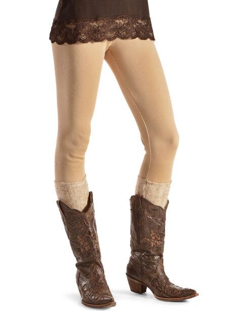 Others Follow Women's Boot Sock Leggings , Parchment, hi-res