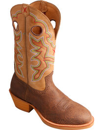 Twisted X Men's Ruff Stock Round Toe Western Boots, , hi-res