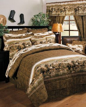 Karin Maki Wild Horses Full Comforter Set, Brown, hi-res