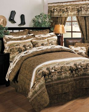 Karin Maki Wild Horses King Comforter Set, Brown, hi-res