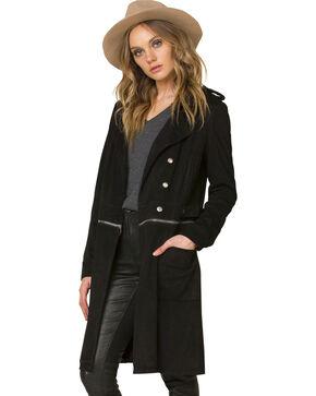 Miss Me Women's Black Work 'n Slay Trench Coat , Black, hi-res