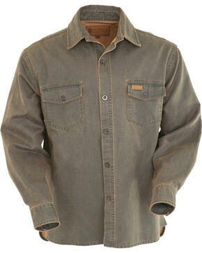 Outback Trading Co. Men's Brown Arkansas Shirt Jacket , Brown, hi-res