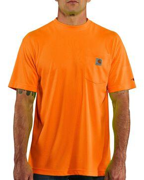 Carhartt Men's Short Sleeve Color Enhanced Force T-Shirt, Orange, hi-res