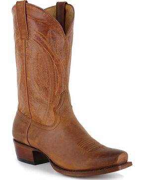 Cody James® Men's Hombre Square Toe Western Boots, Tan, hi-res