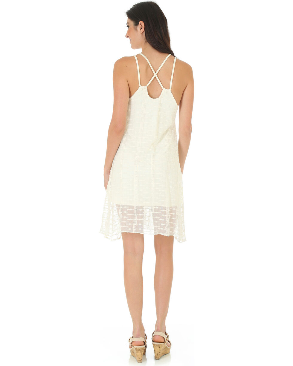 Wrangler Women's Crisscross Strappy Dress, Cream, hi-res