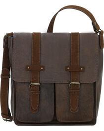 TrueLu Women's Brown Jaime Messenger Bag , Dark Brown, hi-res