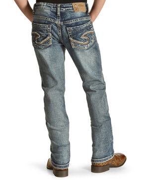 Silver Girls' Tammy Dark Wash Jeans - Boot Cut, Indigo, hi-res