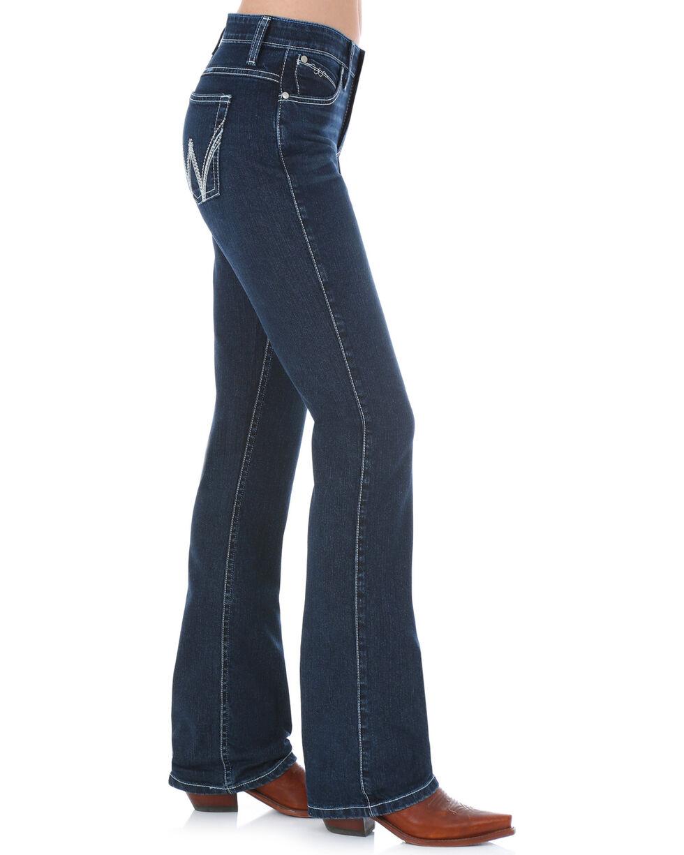 Wrangler Women's Dark Wash Cool Vantage Ultimate Riding Q-Baby Jeans, Denim, hi-res