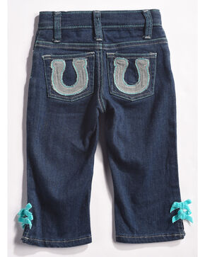 Wrangler Infant/Toddler Girls' Indigo Horseshoe Pocket Jeans - Straight Leg , Indigo, hi-res
