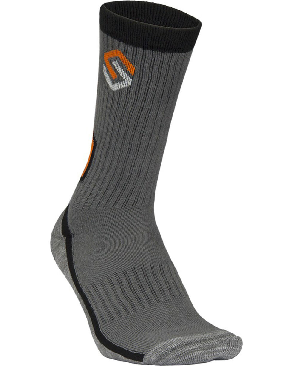 Scentlok Technologies Men's Charcoal Elite Sport Crew Socks, Charcoal, hi-res