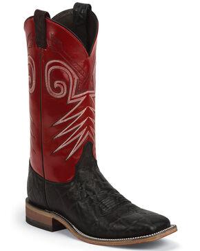 Justin Men's Bent Rail Western Boots, Black, hi-res