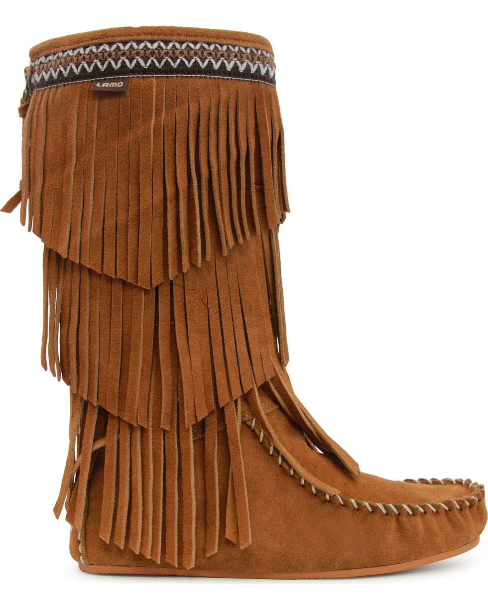 Lamo Virginia 3 Layer Fringe Boot(Women's) -Black