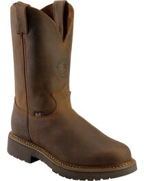"Justin Men's 11"" Rugged Western Work Boots, , hi-res"