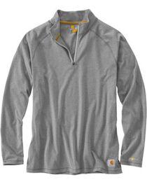 Carhartt Force Cotton Delmont Quarter Zip Long Sleeve Work T-Shirt, , hi-res