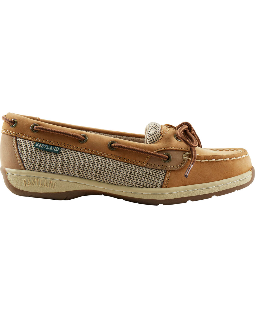 Eastland Women's Tan Sunrise Boat Shoe Slip-Ons , Tan, hi-res