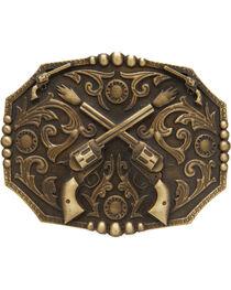 AndWest Men's Dueling Pistols Belt Buckle, , hi-res