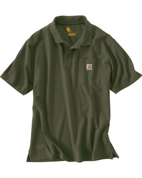 Carhartt Contractor's Work Pocket Polo Shirt, Moss, hi-res
