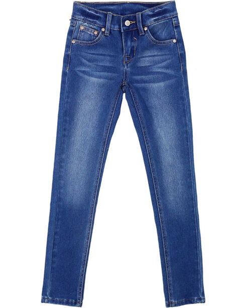 Shyanne® Girl's Medium Wash Skinny Jeans, Dark Blue, hi-res