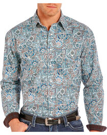 Rough Stock Men's Floral Paisley Printed Long Sleeve Shirt, , hi-res
