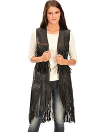 Kobler Leather Women's Cigala Leather Fringe Vest, , hi-res