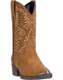 Laredo Boys' Tan Tobi Cowboy Boots - Round Toe , , hi-res
