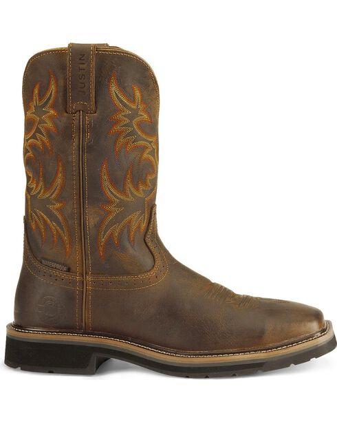 "Justin Men's 11"" Western Work Boots, Tan, hi-res"