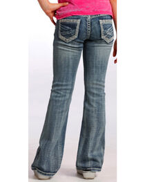 Rock & Roll Cowgirl Girls' Tribal Embroidered Boot Cut Jeans, , hi-res