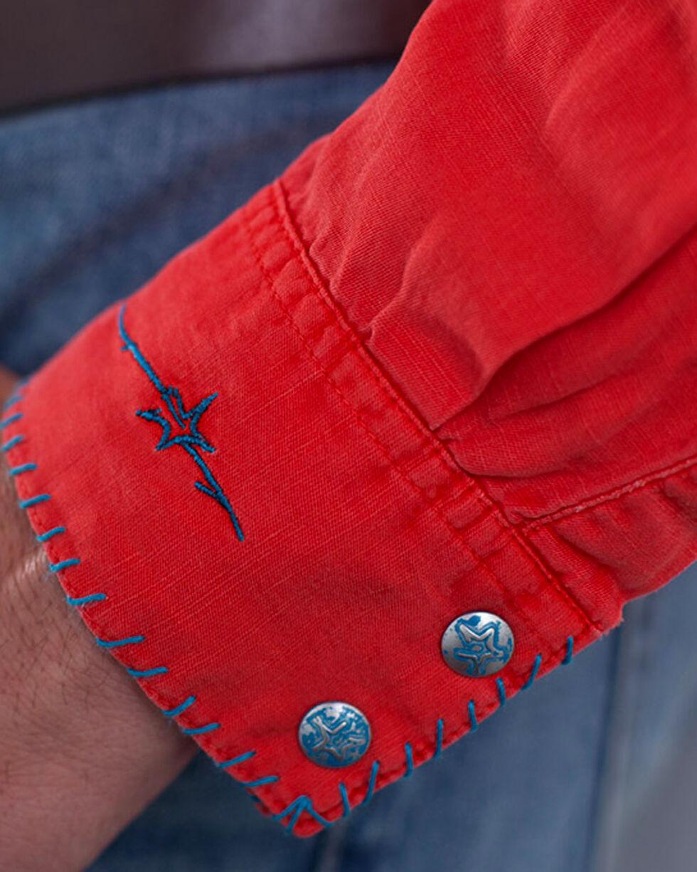 Ryan Michael Men's Silk Linen Long Sleeve Shirt, Red, hi-res