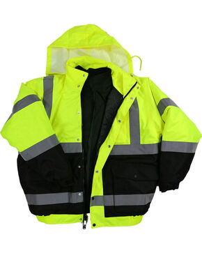 American Worker Men's 3-in-1 Bomber Jacket , Bright Yellow, hi-res