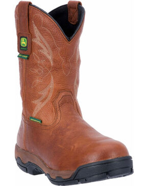 John Deere Men's Western Safety Toe Work Boot, Cinnamon, hi-res