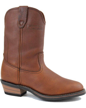 "Ad Tec Men's Ranch Wellington 11"" Work Boots, Mahogany, hi-res"