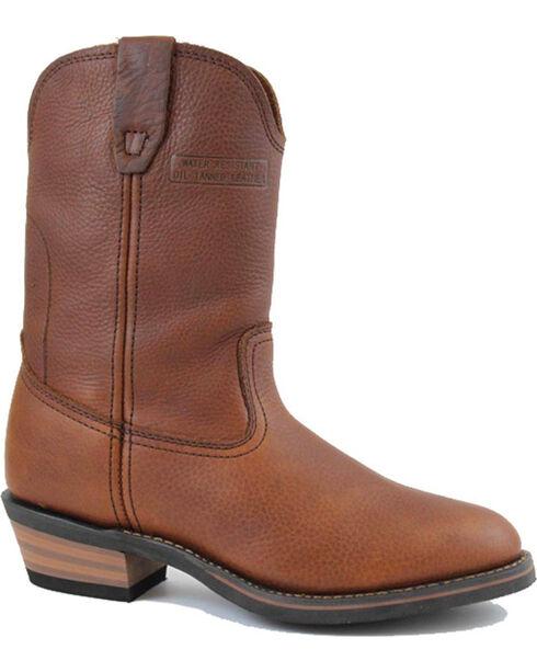 """Ad Tec Men's Ranch Wellington 11"""" Work Boots, Mahogany, hi-res"""