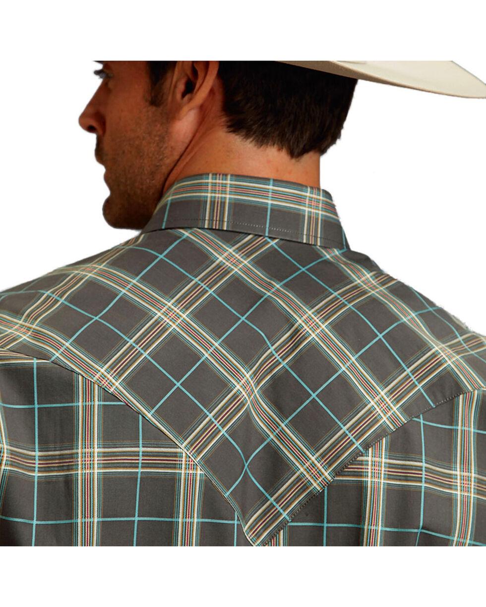 Stetson Men's Plaid Patterned Long Sleeve Shirt, Cream, hi-res