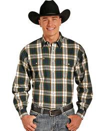 Powder River Men's Bandera Brushed Plaid Long Sleeve Shirt, , hi-res