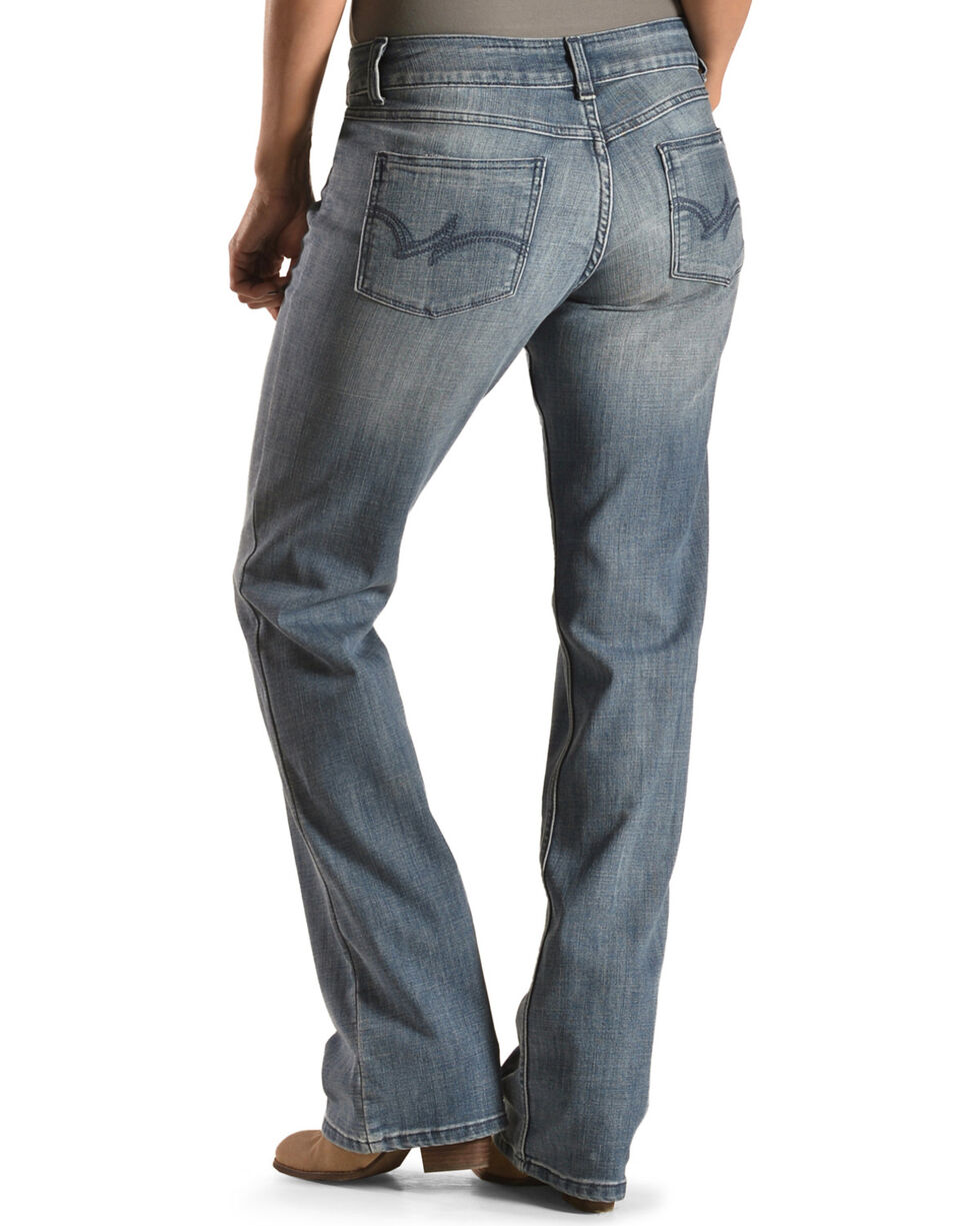 Wrangler Women's Medium Wash Boot Cut Jeans , Med Blue, hi-res