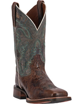 Dan Post Women's Teton Square Toe Western Boots, Chocolate, hi-res