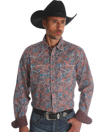 Wrangler 20X Men's Paisley Advanced Comfort Competition Shirt - Tall, , hi-res