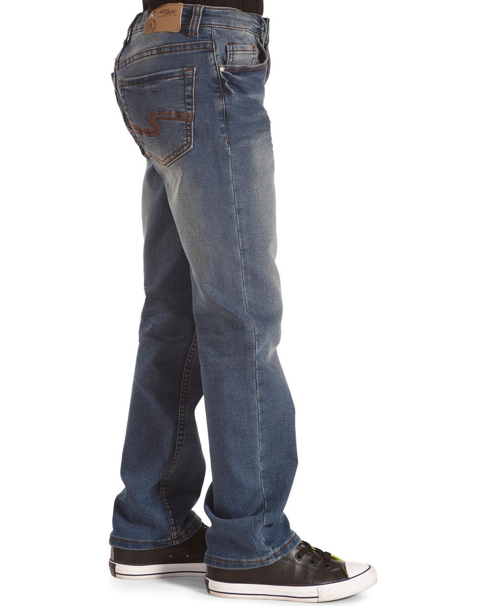 Silver Boys' Benny Medium Wash Jeans - Straight Leg, Indigo, hi-res