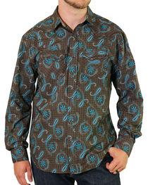 Moonshine Spirit Men's Geo Paisley Western Shirt, , hi-res