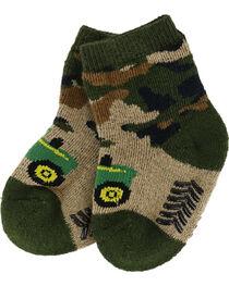 John Deere Infant's Camo Booties, , hi-res