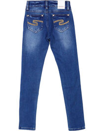 Shyanne® Girl's Medium Wash Skinny Jeans, , hi-res
