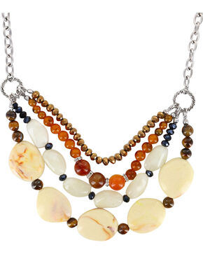 Shyanne® Women's Gemstone Beaded Necklace, Brown, hi-res