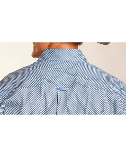 Tuf Cooper Performance Men's Dotted Pattern Long Sleeve Shirt , Blue, hi-res