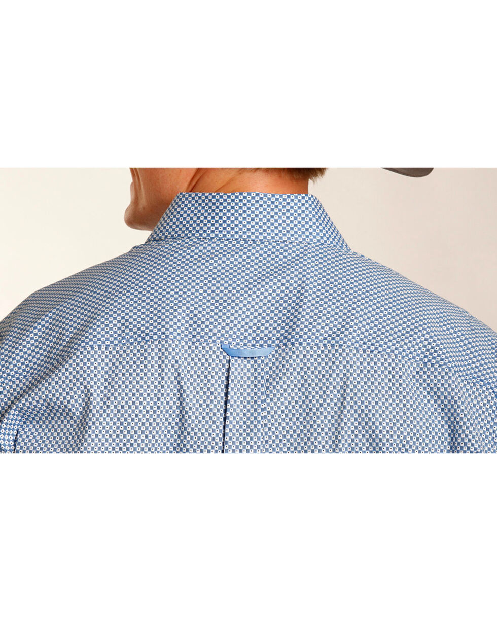 Tuf Cooper Performance Men's Dotted Pattern Long Sleeve Shirt , Blue, hi-res