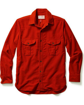 Filson Men's Moleskin Seattle Shirt, Dark Orange, hi-res