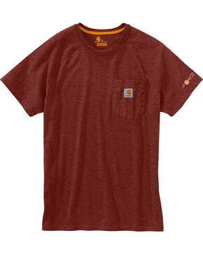 Carhartt Men's Short Sleeve Force T-Shirt, Dark Red, hi-res