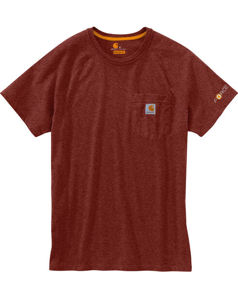 Carhartt Men's Short Sleeve Force T-Shirt, Dark Red, hi-res